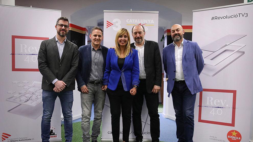 REVOLUCIÓ 4.0: Cristian Trepat, Agustí Esteve, Xantal Llavina, Vicent Sanchis y Saúl Gordillo