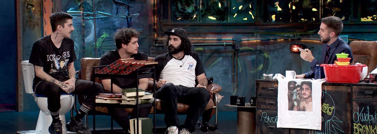 Sr. Cheeto, Darío Eme Hache y Orslok en 'La Resistencia'
